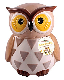 Ceramic Barney Barn Owl Cookie Jar