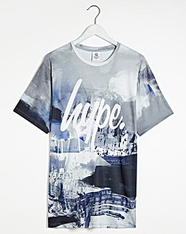 Hype Chalk Smudge Short Sleeve T-Shirt Long
