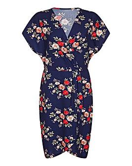 Mela London Curve Rose Wrap Dress