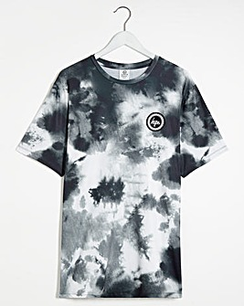 Hype Inky Mono Print Short Sleeve T-Shirt Long