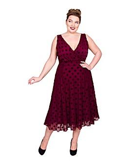 Scarlett & Jo Velvet Marilyn Midi Dress