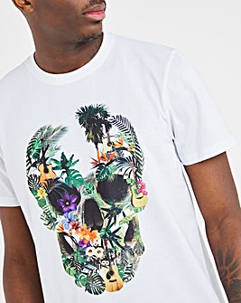Joe Browns Floral Skull T-Shirt Long
