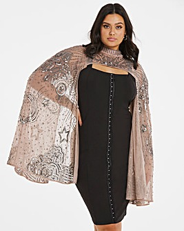 Mink Beaded Cape
