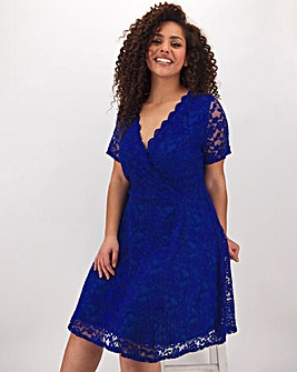 Cobalt Lace Skater Dress