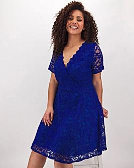 Cobalt Lace Skater Dress