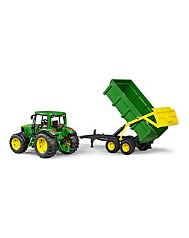 John Deere Tractor with Tipping Trailer