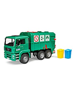 MAN TGA Garbage Truck Green