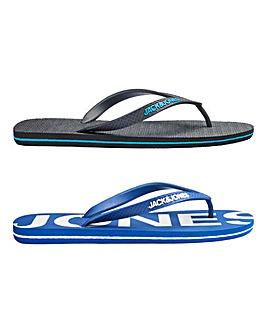 Jack and Jones 2 Pack Flip Flops