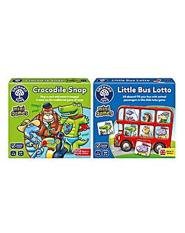 Orchard Toys Crocodile Snap & Little Bus Lotto 2 Pack Game