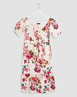 Floral Print Bardot Occasion Midi Dress
