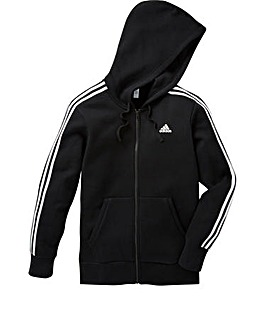 adidas Black Essential Full-Zip Hoodie