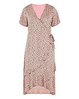 Pink Spot Midi Dress