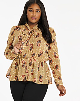 Paisley Spot Pussybow Blouse