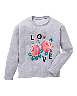 KD Girls Floral Print Sweatshirt