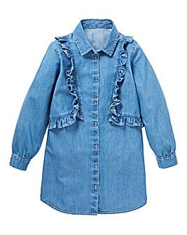 KD Girls Denim Shirt Dress
