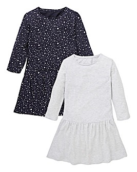 Girls Pack of Two Jersey Dresses