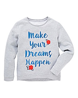 KD Girls Slogal Print Sweatshirt