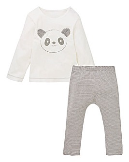 KD Baby Uni Panda Tee and Legging Set
