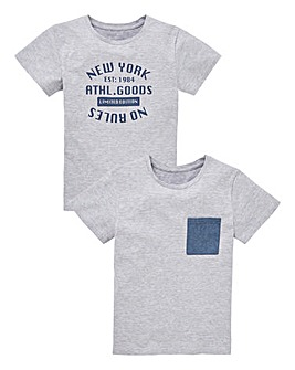 Boys Pack of Two Short Sleeve T-Shirts