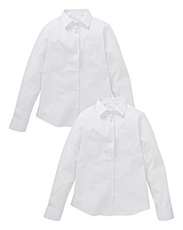 Girls Pack of Two L/S School Shirts S
