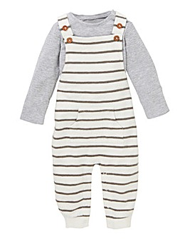 Baby Fleece Dungaree and Tee Set