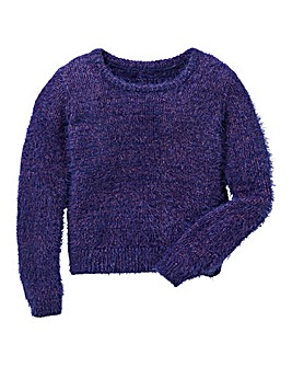 KD Girls Fluffy Metalic Jumper