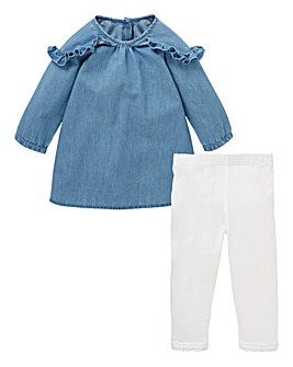 KD Baby Denim Dress and Legging Set