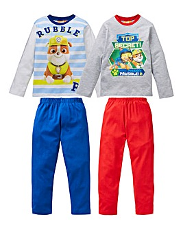 Paw Patrol Boys Pack of Two Pyjamas
