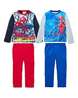 Spiderman Boys Pack of Two Pyjamas