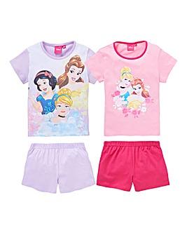 Disney Princess Pck of Two PJ Shorts