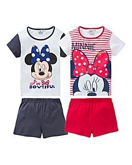 Minnie Mouse Pck of Two PJ Shorts