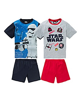 Star Wars Boys Pack of Two Pyjama Shorts