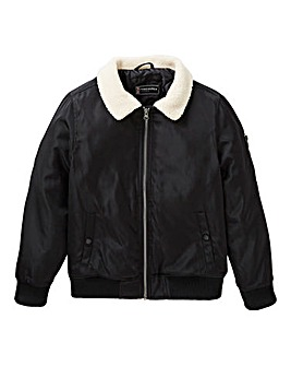 Fenchurch Boys Fleece Collar Bomber Jacket