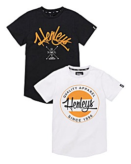 Henleys Boys Pack of Two T-Shirts