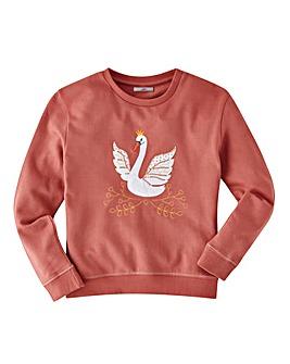 Joe Browns Girls Swan Sweatshirt