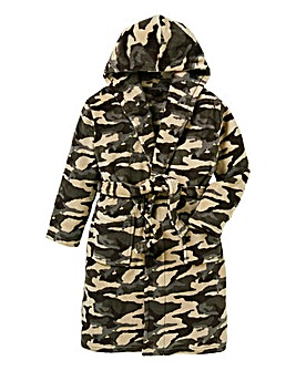KD Boys Camouflage Dressing Gown