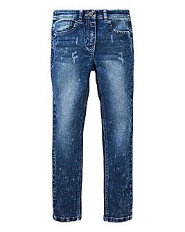 Girls Acid Wash Skinny Jean