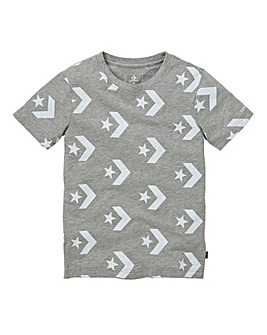 Converse Boys Star Chevron Print Tee