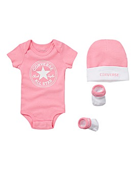 Converse Baby Girl 3 Piece Gift Set