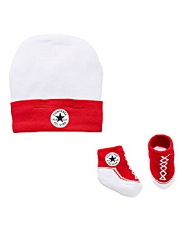 Converse Baby Hat & Bootie Set