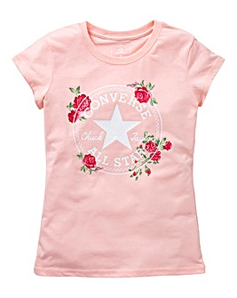 Converse Girls Chuck Patch Roses Tee