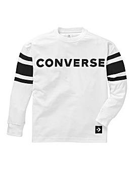 Converse Boys Long Sleeve Football Tee