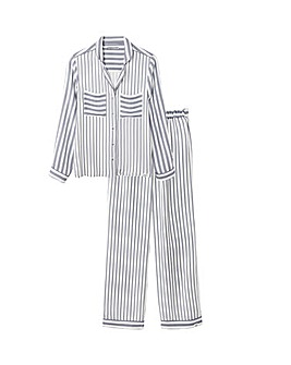 Pretty You London Boyfriend Fit Stripe Pyjama Set for Women