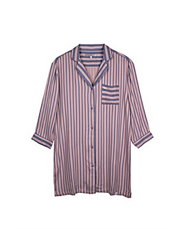 Pretty You London Boyfriend Fit Stripe Nightshirt for Women