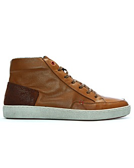 Daniel Hotch Leather High Top Trainers