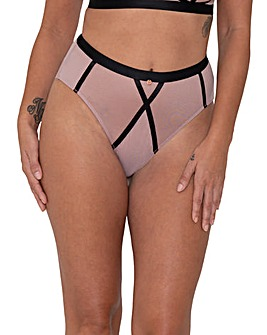 Scantilly by Curvy Kate Sheer Chic High Waist Brief