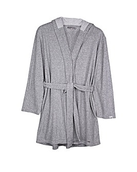 Pretty You London Hooded, Long Sleeved Organic Cotton Robe for Women