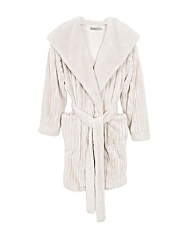 Pretty You London Hooded Mid Length Cloud Robe for Women
