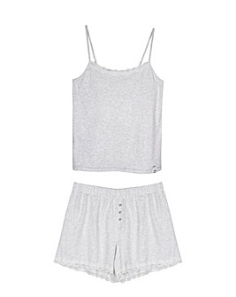 Pretty You London Soft and Breathable Organic Cotton Cami Short Set for Women