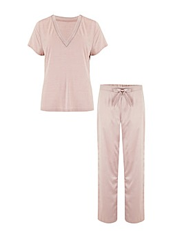 Pour Moi Jersey And Satin PJ Set